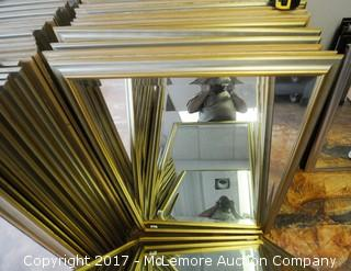 22  Beveled Edge Mirrors with Silver Gold Frame