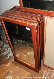 20 Wooden Framed Mirrors