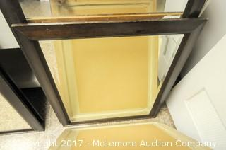 3 Wooden Framed Mirrors