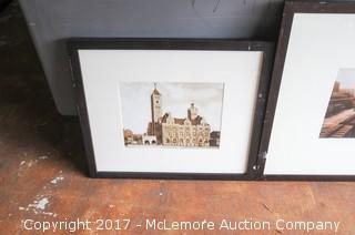 Three Framed Photos Of Union Station Hotel In Nashville TN