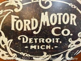 Reproduction Ford Motor Co. Sign
