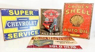 Reproduction Assorted Automotive/Petroliana Signs