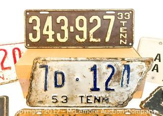 Assortment of Vintage License Plates