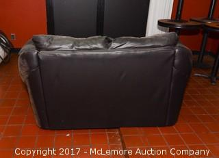 (2) Leather Love Seats