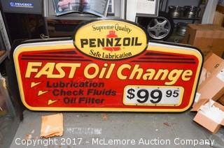 Commercial Light up Advertising Sign