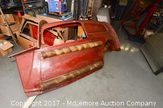 Fiberglass Car Mold with Miscellaneous Fiberglass Sections