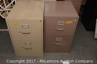 (2) Two Drawer Filing Cabinets