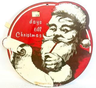 Vintage Christmas/Santa Claus Sign