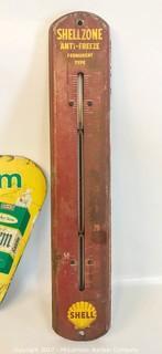 Vintage Cigarette Sign & Oil Temperature Gauge