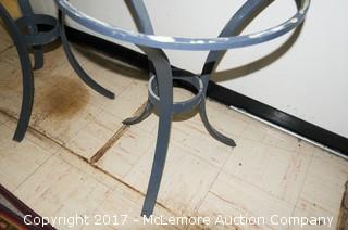 Two Metal Table Frames-No Tops
