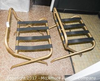 Two Folding Luggage Racks