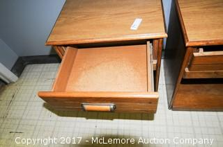 Two Night Stand/Lamp Tables With Drawer
