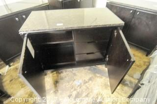 Approximately 12 Wood Multi Purpose Cabinets