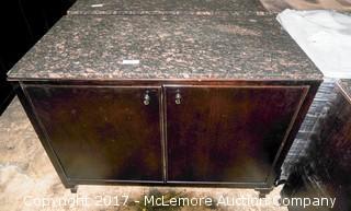 Wood Multi Purpose Cabinet with Granite Top
