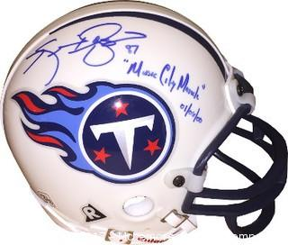Kevin Dyson Signed Tennessee Titans Riddell Mini Helmet