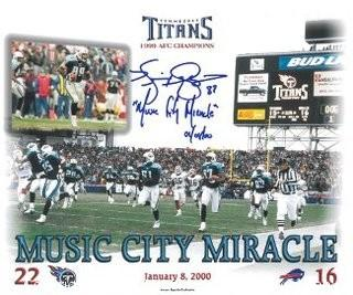 "Kevin Dyson Signed Titans ""Music City Miracle"" 8x10 Photo"