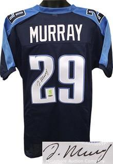 DeMarco Murray Signed Navy Blue Custom-Stitched Pro Style Football Jersey