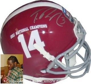 Trent Richardson Signed Alabama Crimson Tide Authentic Schutt Mini Helmet