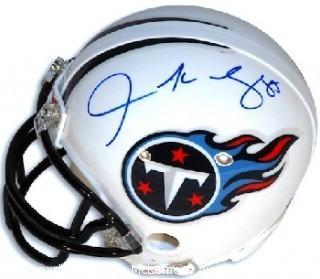 Derrick Mason Signed Tennessee Titans Mini Helmet