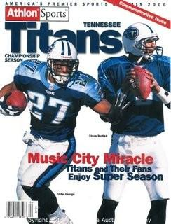 Tennessee Titans Unsigned 2000 Pro Football Championship Season Commemorative Issue Magazine w/George & McNair