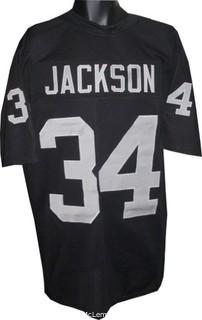 Bo Jackson Unsigned Black TB Custom-Stitched Pro Style Football Jersey