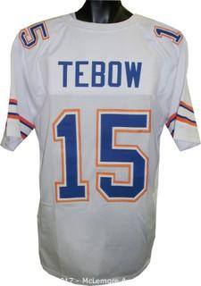 Tim Tebow Unsigned White Custom-Stitched Football Jersey