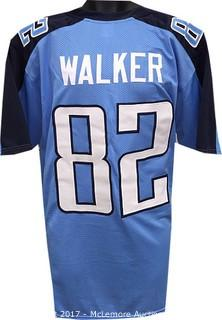 Delanie Walker Unsigned Light Blue Custom-Stitched Pro Style Football Jersey