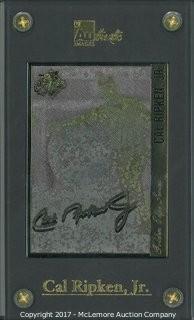 Cal Ripken, Jr. Unsigned, Limited Edition Baltimore Orioles 24 Karat Gold Signature Card Career
