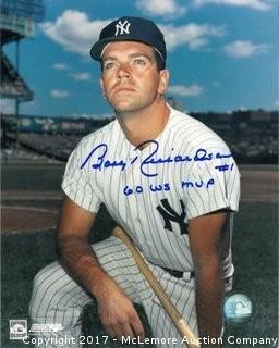 Bobby Richardson Signed New York Yankees Color 8x10 Photo