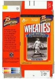 Babe Ruth Unsigned, Commemorative New York Yankees Mini Wheaties Box Box (Unused)