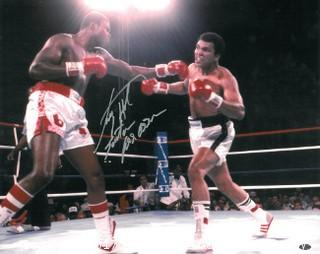 Larry Holmes vs. Muhammad Ali 16x20 Photo, Signed by Holmes