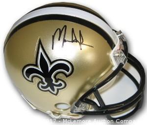 Mark Ingram Signed New Orleans Saints Riddell Mini Helmet
