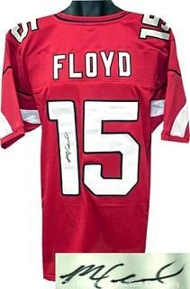 Michael Floyd Signed Red Custom-Stitched Pro Style Football Jersey