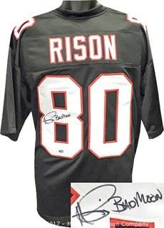 Andre Rison Signed Black Custom-Stitched Pro Style Football Jersey