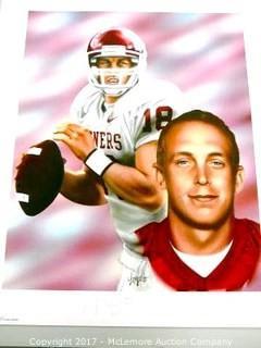 Jason White signed Oklahoma Sooners 20x24 Lithograph