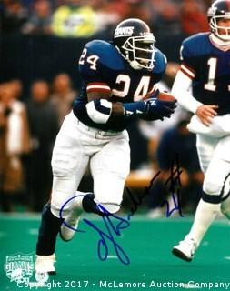 Ottis Anderson Signed New York Giants Super Bowl XXI 8x10 Photo
