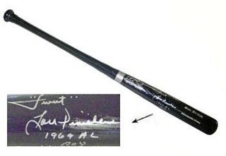 Lou Piniella Signed Rawlings Adirondack Pro Big Stick Black Bat