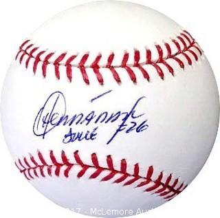 Orlando Hernandez Signed Official Major League Baseball