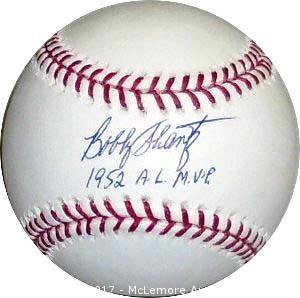 Bobby Shantz Signed Official Major League Baseball
