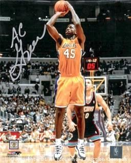 A.C. Green Signed Los Angeles Lakers 8x10 Photo