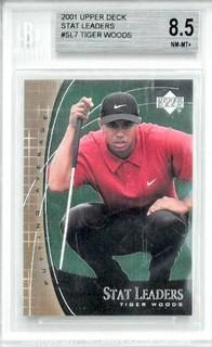 Tiger Woods 2001 Upper Deck Stat Leaders #SL7 Golf Card