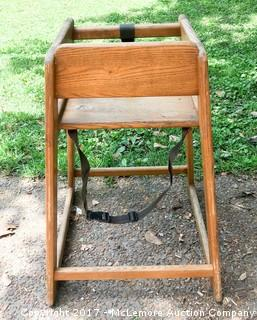 Restaurant-Style Highchair - Solid Wood