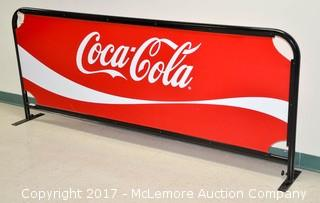 Coca Cola Banner on Stand