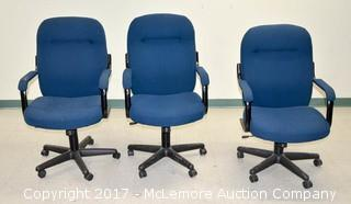 (3) High Back Office Swivel Chair
