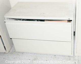 Lateral File Cabinet Including Contents