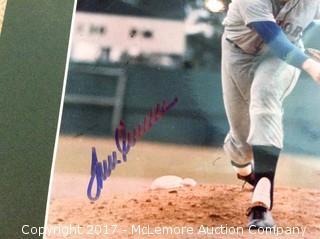 "Tom Seaver Autographed Matted 8"" x 10"" Photo, Scoreboard COA"