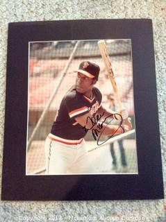 "Willie McCovey Autographed Matted 8"" x 10"" Photo, Scoreboard COA"