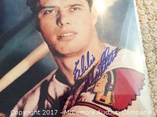 "Eddie Mathews Autographed 8"" x 10"" Photo, Scoreboard COA"