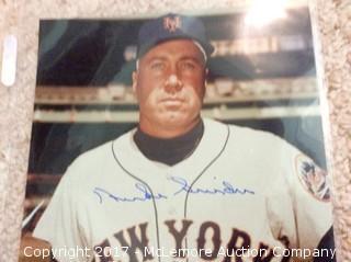 "Duke Snider Autographed 8"" x 10"" Photo with COA"