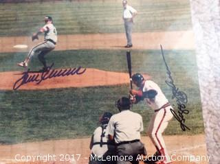 "Tom Seaver/Reggie Jackson Autographed Matted 8"" x 10"" Photo with COA"